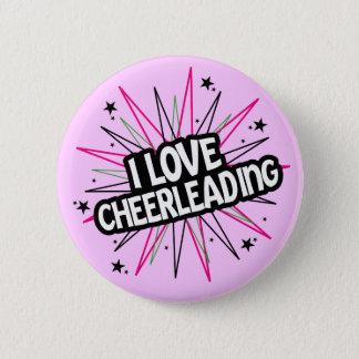 Bóton Redondo 5.08cm Eu amo Cheerleading o botão