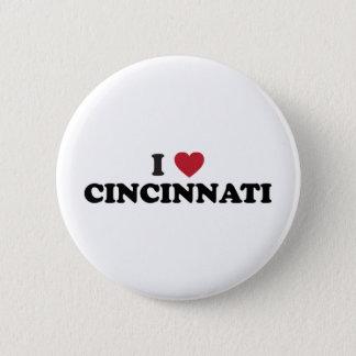Bóton Redondo 5.08cm Eu amo Cincinnati Ohio