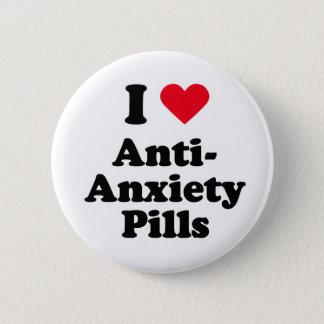 Bóton Redondo 5.08cm Eu amo comprimidos da anti-ansiedade