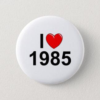 Bóton Redondo 5.08cm Eu amo (coração) 1985