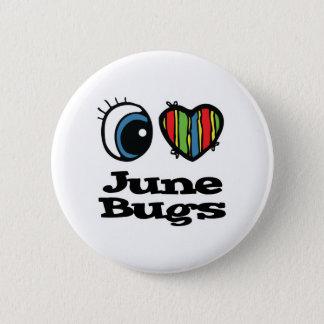 Bóton Redondo 5.08cm Eu amo (coração) insetos de junho