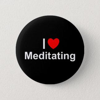 Bóton Redondo 5.08cm Eu amo (coração) Meditating