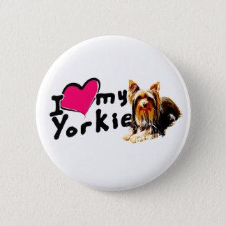 Bóton Redondo 5.08cm Eu amo (coração) Yorkies