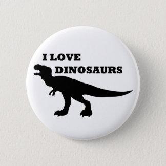 Bóton Redondo 5.08cm Eu amo dinossauros!
