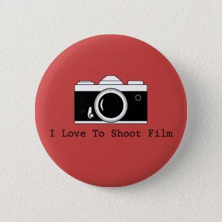 Bóton Redondo 5.08cm Eu amo disparar no filme