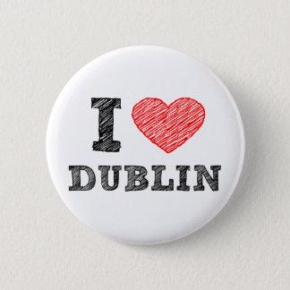 Bóton Redondo 5.08cm Eu amo Dublin