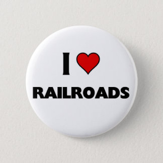 Bóton Redondo 5.08cm Eu amo estradas de ferro