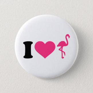 Bóton Redondo 5.08cm Eu amo flamingos
