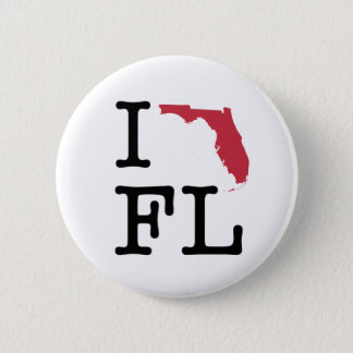 Bóton Redondo 5.08cm Eu amo Florida