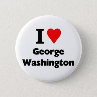 Bóton Redondo 5.08cm Eu amo George Washington