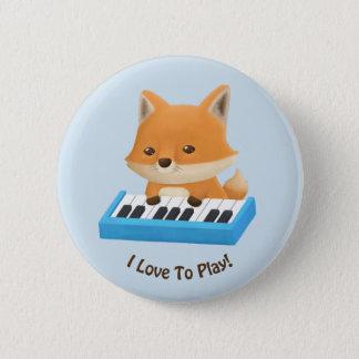 Bóton Redondo 5.08cm Eu amo jogar o Fox bonito no botão dos miúdos do