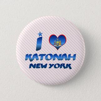 Bóton Redondo 5.08cm Eu amo Katonah, New York