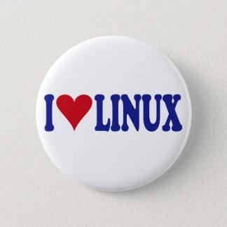 Bóton Redondo 5.08cm Eu amo Linux