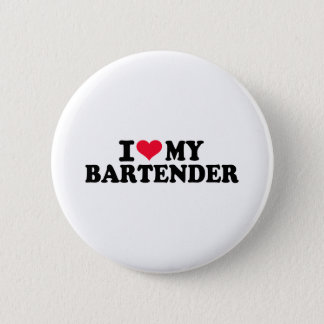Bóton Redondo 5.08cm Eu amo meu barman