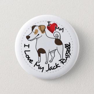 Bóton Redondo 5.08cm Eu amo meu cão de Jack Russell