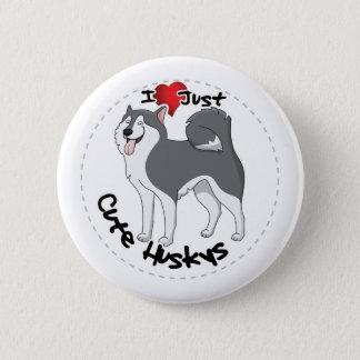 Bóton Redondo 5.08cm Eu amo meu cão ronco engraçado & bonito adorável