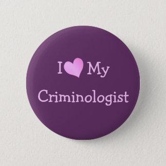 Bóton Redondo 5.08cm Eu amo meu criminologista