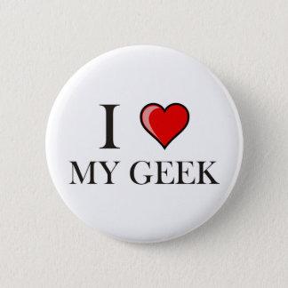 Bóton Redondo 5.08cm Eu amo meu geek