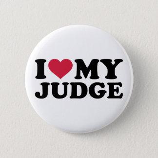 Bóton Redondo 5.08cm Eu amo meu juiz