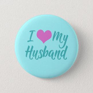 Bóton Redondo 5.08cm Eu amo meu marido