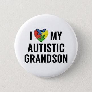 Bóton Redondo 5.08cm Eu amo meu neto autístico