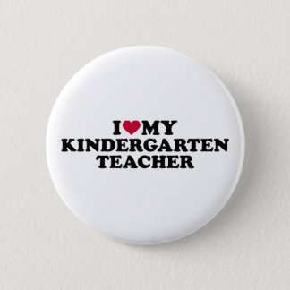 Bóton Redondo 5.08cm Eu amo meu professor de jardim de infância