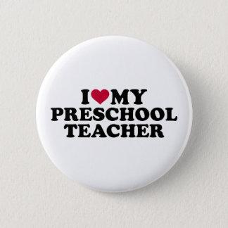 Bóton Redondo 5.08cm Eu amo meu professor pré-escolar