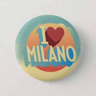Bóton Redondo 5.08cm Eu amo Milão