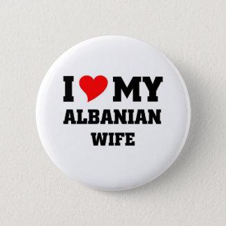 Bóton Redondo 5.08cm Eu amo minha esposa albanesa