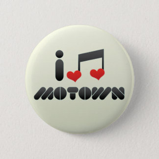 Bóton Redondo 5.08cm Eu amo Motown