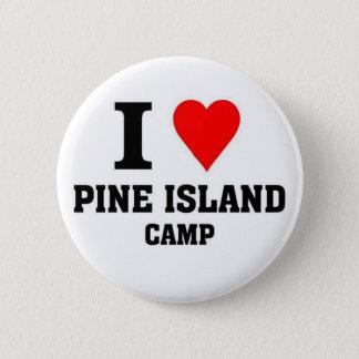 Bóton Redondo 5.08cm Eu amo o acampamento da ilha do pinho