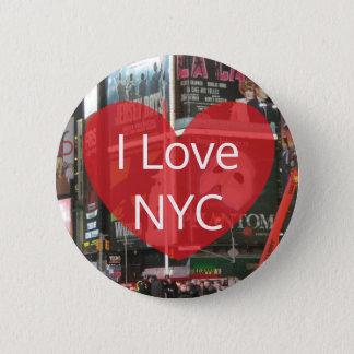 Bóton Redondo 5.08cm Eu amo o botão da Nova Iorque