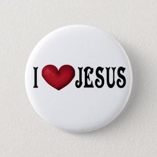 Bóton Redondo 5.08cm Eu amo o botão de Jesus