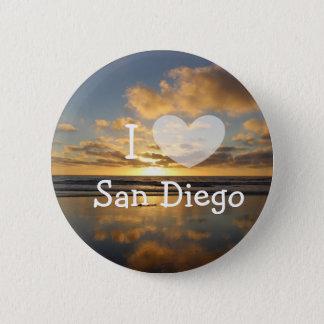 Bóton Redondo 5.08cm Eu amo o botão de San Diego Califórnia