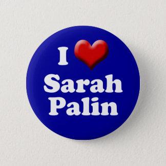 Bóton Redondo 5.08cm Eu amo o botão de Sarah Palin (o botão vermelho de