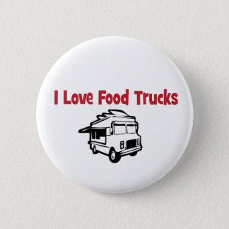 Bóton Redondo 5.08cm Eu amo o botão dos caminhões da comida