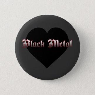 Bóton Redondo 5.08cm Eu amo o botão preto do metal