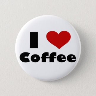 Bóton Redondo 5.08cm Eu amo o café