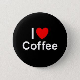 Bóton Redondo 5.08cm Eu amo o café do coração