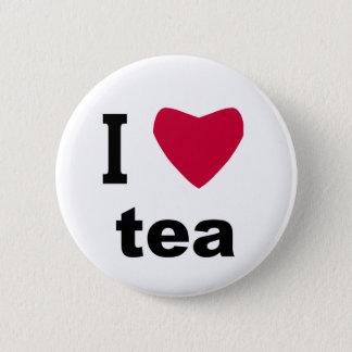 Bóton Redondo 5.08cm Eu amo o chá