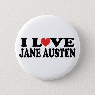 Bóton Redondo 5.08cm Eu amo o clássico de Jane Austen