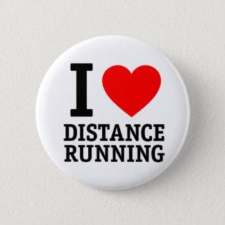 Bóton Redondo 5.08cm Eu amo o corredor da distância