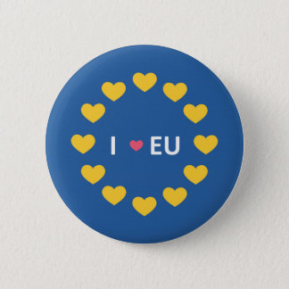Bóton Redondo 5.08cm Eu amo o crachá da UE - permanecem os eleitores no