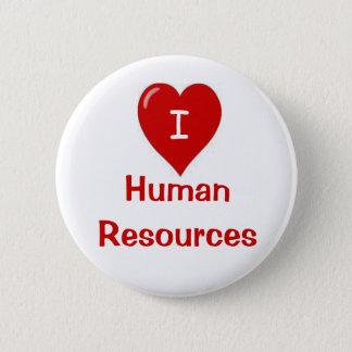 Bóton Redondo 5.08cm Eu amo o crachá dos recursos humanos