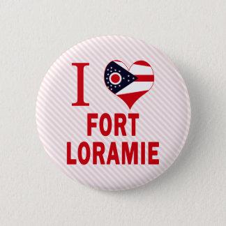 Bóton Redondo 5.08cm Eu amo o forte Loramie, Ohio
