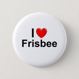 Bóton Redondo 5.08cm Eu amo o Frisbee do coração