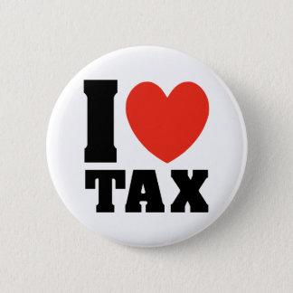 Bóton Redondo 5.08cm Eu amo o imposto