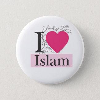 Bóton Redondo 5.08cm eu amo o Islão