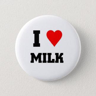 Bóton Redondo 5.08cm Eu amo o leite