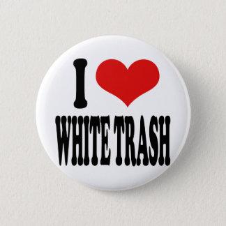 Bóton Redondo 5.08cm Eu amo o lixo branco